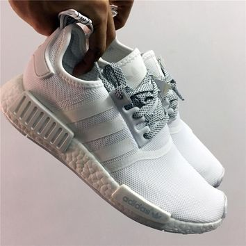 adidas nmd r1 3m reflective white shoes sneaker