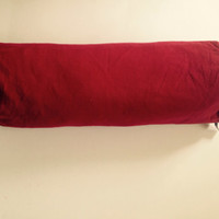 Maroon Bolster Pillows, Maroon Daybed Pillows, Custom Bolster Bolster pillows covers, Neck roll Pillow Covers, Yoga Pillow Covers