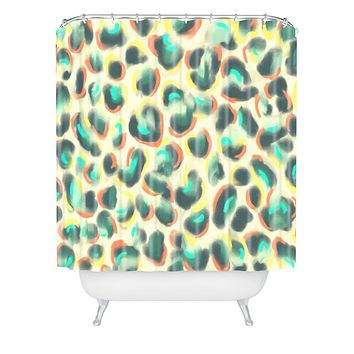 Jacqueline Maldonado Leopard Warm Shower Curtain