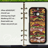 samsung galaxy S4active case,htc one m8 / m7 / S / X case,Hamburger,samsung galaxy S3mini / S4mini / S3 / S4 / S5 case,Sony xperia Z case