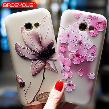 Case For Samsung Galaxy S8 S7 Edge S9 Plus Note 8 J2 J3 J5 J7 A3 A5 A7 A8 2016 2017 Prime 2018 Relief Silicone Cases