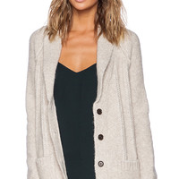 Jenni Kayne Shawl Collar Cardigan in Tan