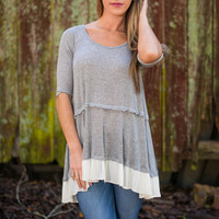 Layer Low Tunic, Gray