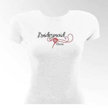 Black Tie Bridesmaid TShirt