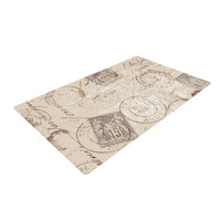 "Heidi Jennings ""World Traveler"" Brown Woven Area Rug"