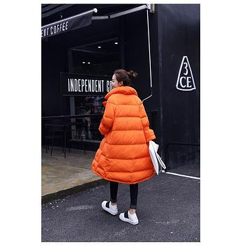 Tcyeek Women Winter Jacket Warm 80% White Duck Down Coat Female Jacket Casual Long Thick Parka Down Black Clothing Women YYJ102