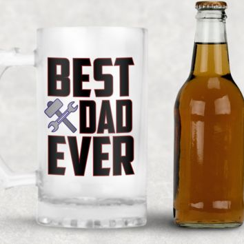 Best Dad Ever Frosted Beer Mug, 16oz Frosted Beer Stein