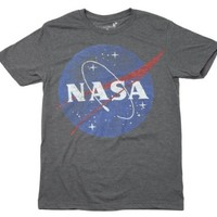 Nasa Logo Grey T-Shirt (Medium)