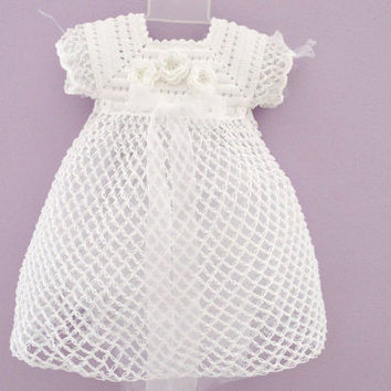 Christening Gown First Communion Dress Baptism Dress Baby Girl Baptism Dress Victorian Dress Blessing Dress Crochet Baptism Gown Christening