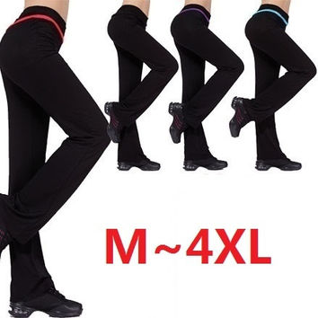 women's modal plus size dance long sports trousers 4 colors fitness confortable yoga pants = 5660384769