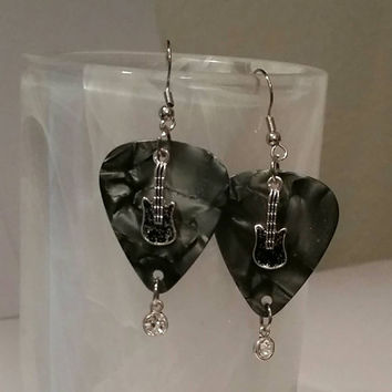 Guitar Pick Jewerly by Betsy's Jewelry - Guitar Pick Earrings - Guitars - Music Lover - Rocker Style