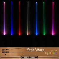 Drop Shipping 2 pcs/lot Star Wars Lightsaber Led Flashing Light Sword Toys Cosplay Weapons Sabers Christmas Gifts for boys