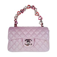 Limited Edition Chanel Lilac Valentine Chain Mini Flap Bag