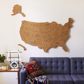 USA Large Routed Corkboard
