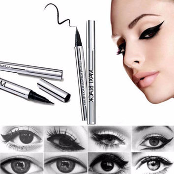 1 pc New Women Ladies Extreme Black Liquid Eyeliner Waterproof Make Up Eye Liner Pencil Pen HOT Makeup Beauty Tool Free shipping