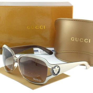 Gucci Stylish Women Men Leisure Sun Shades Eyeglasses Glasses Grey Frame I