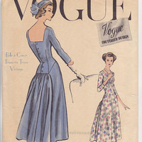 1950s Vogue Couturier Party Cocktail Evening Dress Designer UNCUT Sewing Pattern 967 Bust 34