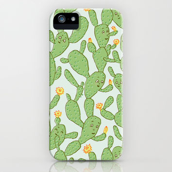 Happy Cactus | Pattern iPhone & iPod Case by Marie Gardeski