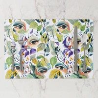 Utopian Avant-Garde Surreal Eyes Design Placemat