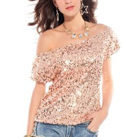 Sexy Loose Sequins Top for Summers