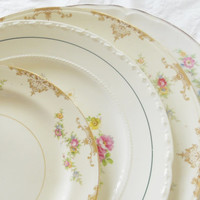 Gorgeous Mismatched Tea Party Dinner Plates, Set of 4,Cottage Style, Shabby Chic, Cottage Chic, Tea Party, Vintage, Wedding