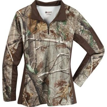 Rocky® Ladies' SilentHunter 1/4 Zip Camo Shirt