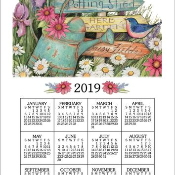 Calendar Towel 2019 - Garden Signs