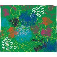 Vy La Bold Breezy Green Fleece Throw Blanket