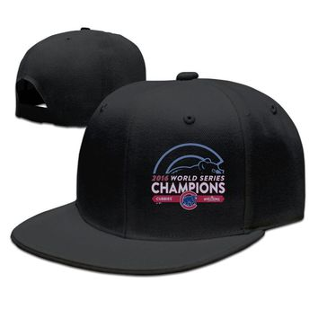 2016 World Series Champions Chicago Cubs Funny Unisex Adult Womens Hip-hop Caps Mens Fitted Hats
