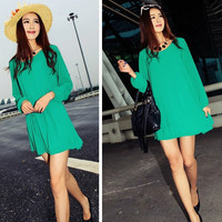 Women Summer Autumn Chiffon Dress Party Dress Sexy Ladies Dress