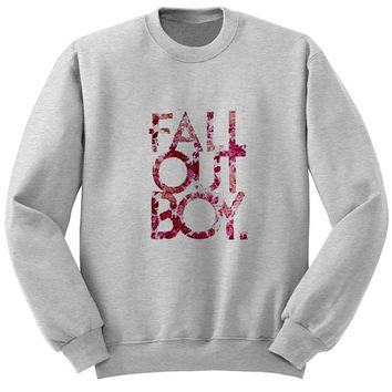 fall out boy sweater Gray Sweatshirt Crewneck Men or Women for Unisex Size with variant colour
