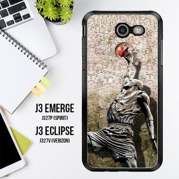 Michael Jordan Slam Dunk Carbonite V0979 Samsung Galaxy J3 Emerge, J3 Eclipse , Amp Prime 2, Express Prime 2 2017 SM J327 Case