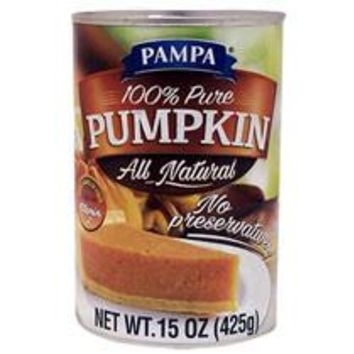 Pampa 100% Pure Pumpkin Pie Filling 15 oz (Out of Stock)