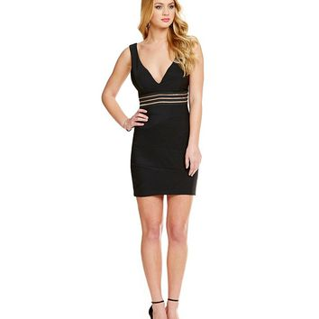 Honey and Rosie Illusion Trim Waist Dress | Dillards