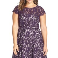 Plus Size Women's Eliza J Lace Fit & Flare Dress,