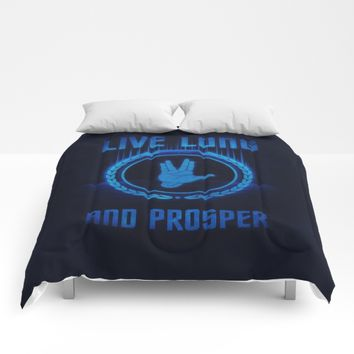 Live Long and Prosper - Spock's hand - Leonard Nimoy Geek Tribut Comforters by Badbugs_art