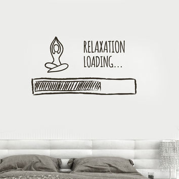 Vinyl Wall Decal Loading Relaxation Meditation Buddhism Bedroom Stickers (ig3623)