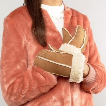 Jack Wills Sheepskin Mittens at asos.com