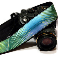 Palm Leaves Camera Strap, Floral Camera Strap, Beach Camera Strap. Nikon, Canon Camera Strap, Women Accessories