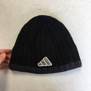 BRAND NEW ADIDAS BLACK BUCKET KNIT HAT YOUTH FIT SHIPPING