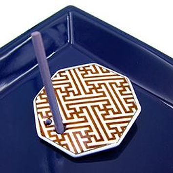 Labyrinth - Decorative Porcelain Incense Holder