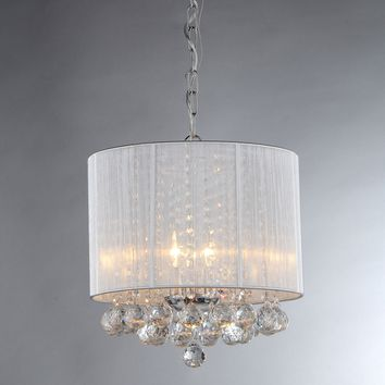 Pinky's Platter Crystal Chandelier