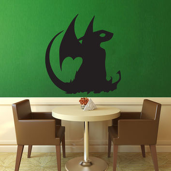Nightfury - Toothless Silhouette Wall Decal