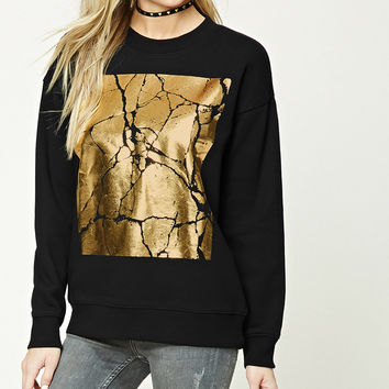 Metallic Graphic Sweatshirt