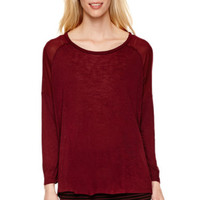 i jeans by Buffalo 3/4-Sleeve Top with Sheer Detail