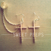 Gold Cross EarCuff Set