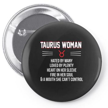 Taurus Woman Pin-back button