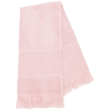 "Light Pink Maxton Velour Guest Towel 14 Count 12""X19.5"""