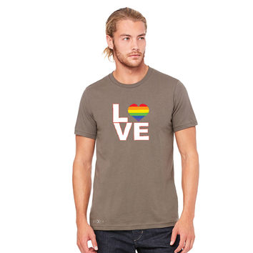 Zexpa Apparel™ Love is Love - Love Wins Rainbow Men's T-shirt Pride LGBT Tee