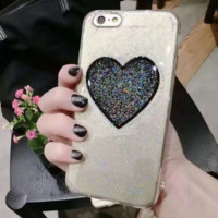 Bling Love Heart Shape Iphone 7 7Plus &6 6S Plus Cover Case + Nice Gift Box
